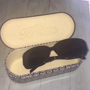 Brighton Black Sunglasses Silver Side Detail
